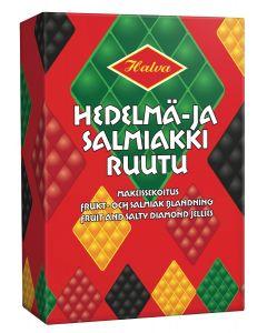Halva Hedelmä- ja Salmiakkiruutu 240g