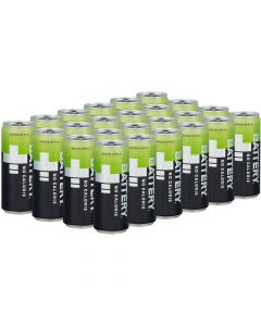 Battery Green Apple No Calories energiajuoma 330ml x 24-pack