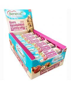 Benecol Välipalapatukka kaura-hasselpähkinä-tumma suklaa 40g x 24kpl