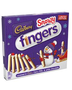 Cadbury Snowy Fingers suklaakeksi 230g