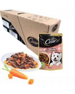 Cesar koiranruoka naudanlihaa ja porkkanaa kastikkeessa 100g x 24kpl