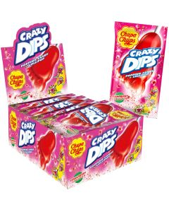 Chupa Chups Crazy Dips Strawberry dippitikkari 24kpl
