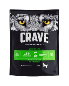 Crave Lammasta & Härkää koiranruoka 1kg