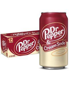 Dr Pepper & Cream Soda USA virvoitusjuoma 355ml x 12-pack