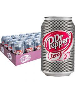 Dr Pepper Zero sokeriton virvoitusjuoma 330ml x 24kpl