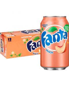 Fanta Peach USA virvoitusjuoma 355ml x 12-pack