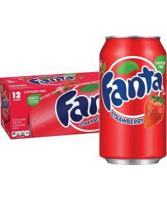 Fanta Strawberry USA virvoitusjuoma 355ml x 12-pack
