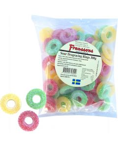 Franssons Sour Dragracing Rings 300g