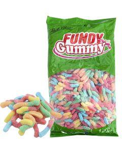 Fundy Gummy kirpeät neonmadot 2,5kg