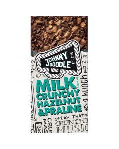 Johnny Doodle Milk Crunchy Hazelnut & Praline suklaalevy 150g