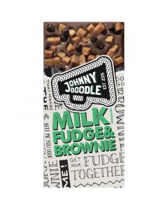 Johnny Doodle Milk Fudge & Brownie suklaalevy 150g