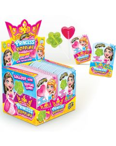 JohnyBee Princess Popping Lolllipop dippitikkarit 13g x 36kpl