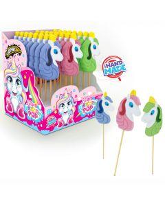 JohnyBee Unicorn Pop tikkari 40g x 24kpl