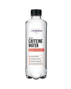 Löfbergs hiilihapotettu kofeiinivesi vadelma-granaattiomena 500ml