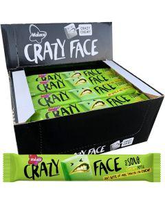 Malaco Crazy Face Sour Apple 34g x 24kpl