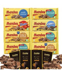 Marabou 100g-200g suklaalevylajitelma 12-pack