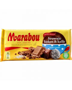 Marabou Brownie, Kookos & Kahvi Limited Edition suklaalevy 185g