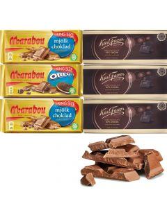 Marabou & Fazer 220g-250g suklaalevylajitelma 6-pack (1,47kg)