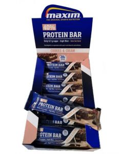 Maxim 40% Protein Bar Cookies & Cream 18 x 50g