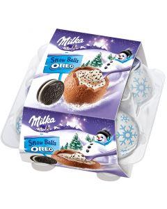 Milka Oreo Snow Balls suklaatäytemuna 112g