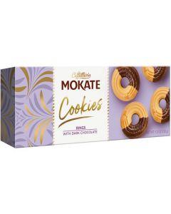 Mokate Cookies Rings with Dark Chocolate keksi 150g