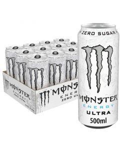 Monster Energy Ultra Zero Sugar energiajuoma 500ml x 12-pack