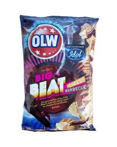 OLW Big Beat Cheesy Barbeque perunalastu 250g