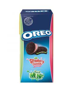 Oreo Strawberry Cheesecake & Cool Mint keksit 308g