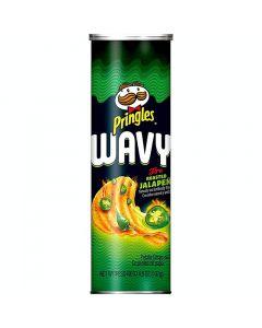 Pringles Wavy Fire Roasted Jalopeno perunalastu 137g