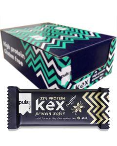 Puls Kex Vanilja gluteeniton proteiinikeksi 40g x 16kpl