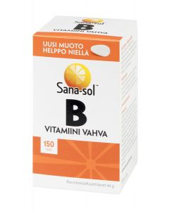 Sana-sol B-vitamiini vahva 150 tabl.
