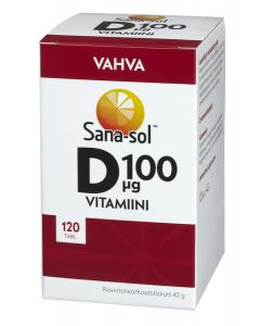 Sana-sol D100 D-vitamiini 120 tabl.