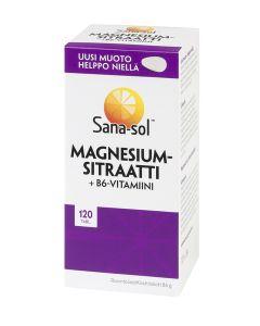 Sana-sol Magnesiumsitraatti + B6 120 tabl.
