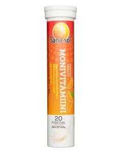 Sana-sol Monivitamiini Appelsiini poretabletti 20 kpl