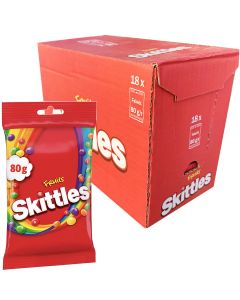 Skittles Fruits 80g x 18kpl