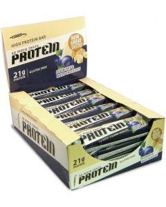 Leader Protein So Much Taste! Mustikka-valkosuklaa proteiinipatukat 61g x 24kpl