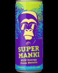 Super Manki 330ml x 24kpl energiajuoma (Kofeiiniton)