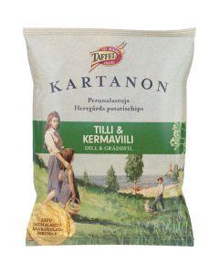 Taffel Kartanon Tilli & Kermaviili perunalastu 50g