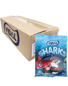 Vidal Jelly Sharks 70g x 18kpl