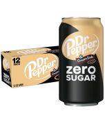 Dr Pepper & Cream Soda Zero Sugar USA virvoitusjuoma 335ml x 12-pack