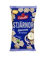 Estrella Stjärnor Tähdet Sourcream & Onion perunasnacks 85g
