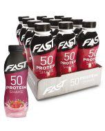 Fast Protein Shake 50 mansikka proteiinijuoma 500ml x 12kpl