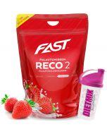 Fast Reco2 palautumisjuomajauhe Mansikka 2,5kg + Shaker kaupan päälle