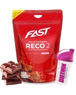 Fast Reco2 palautumisjuomajauhe Suklaa 2,5kg + Shaker kaupan päälle