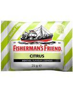 Fisherman's Friend Citrus & Menthol sokeriton, laatikko ( 24kpl x 25g )