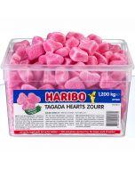 Haribo Tagada Hearts Zourr vaahtosydämet 1,2kg