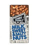 Johnny Doodle Milk Sweet & Salty Nuts suklaalevy 150g