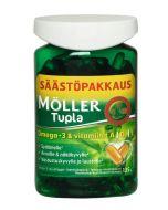 Möller Tupla Säästöpakkaus Omega-3 & vitamiinit A,D,E 150 kaps