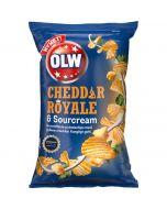 OLW Cheddar Royale & Sourcream perunalastut 175g
