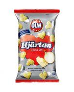 OLW Hjärtan Juusto-Sipuli maissisnacks 100g